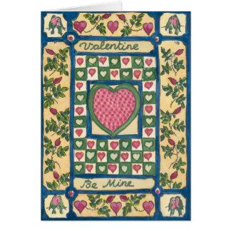 Die Steppdecke des Valentinsgrußes Karte