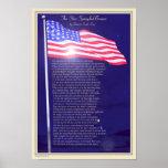 Die Stern-spangled Fahne Plakatdruck