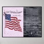 Die Stern-Spangled Fahne Poster