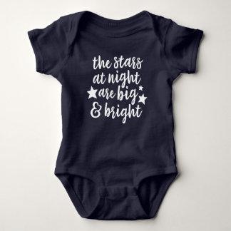 Die Sterne am Nachttexas-Baby-Bodysuit Baby Strampler