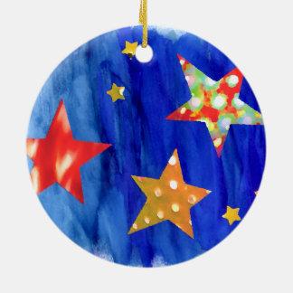 Die Sterne in der hellen Keramik Ornament