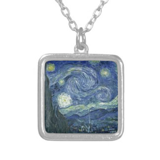 Die sternenbesäte Nacht von Van Gogh (The Starry Versilberte Kette