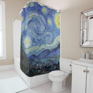 Die sternenklare Nacht durch Van Gogh Duschvorhang