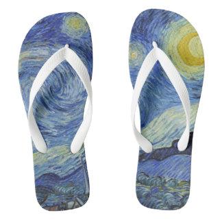 Die sternenklare Nacht durch Van Gogh Flip Flops