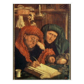 Die Steuereinzieher, 1550 Postkarte