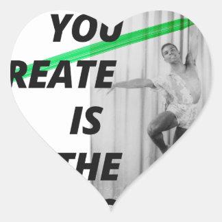 Die Stimme in Ihrem Kopf ist das lebendigste Herz-Aufkleber