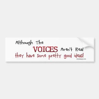 Die Stimmen sind nicht wirkliches lustiges Autoaufkleber