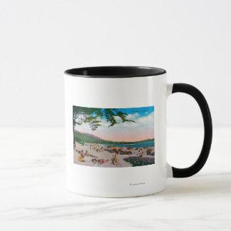 Die Strand-Szene bei Carmel, Kalifornien Tasse