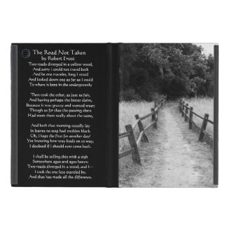 Die Straße nicht genommener Robert Frost Natur iPad Mini Etui