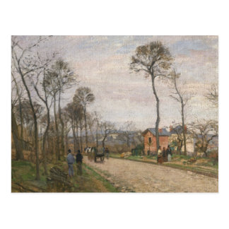 Die Straße von Louveciennes, 1870 Postkarte