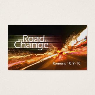 Die Straße zum Änderung-Medium Visitenkarte