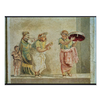 Die Straßen-Musiker, c.100 BC Poster