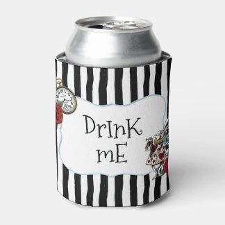Die Striped Alice im Wunderland trinken mich Dosenkühler