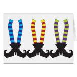 Die Stripy Socken der Hexe Grußkarten