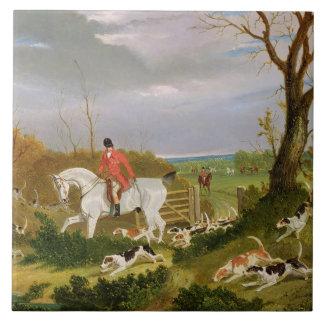 Die Suffolk-Jagd - gehend, nahe Herringswel zu bed Große Quadratische Fliese