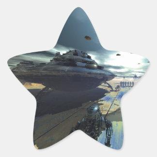 die Superscheibe Stern-Aufkleber
