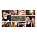Die süßen Wedding Erinnerungen danken Ihnen Foto-K Individuelle Foto Karte