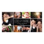 Die süßen Wedding Erinnerungen danken Ihnen Foto-K Bildkarten