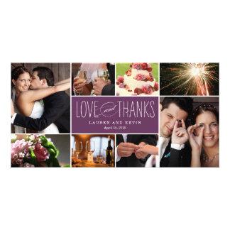 Die süßen Wedding Erinnerungen danken Ihnen Karte
