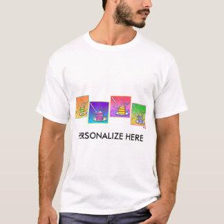 Die T - Shirts der Männer - Pop-Kunst-Kuchen