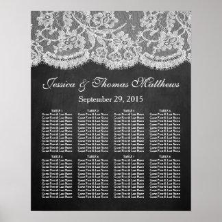 Die Tafel-u. Spitze-Hochzeits-Sammlung Poster