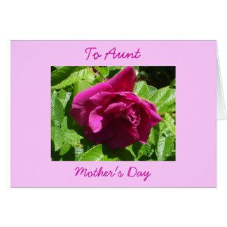Die Tag-Tante der glücklichen Mutter Karte