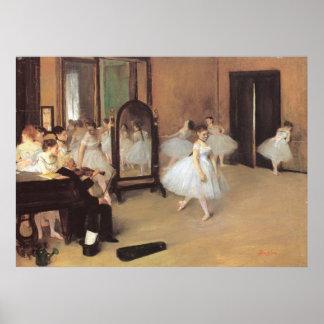 Die Tanzen-Klasse durch Edgar entgasen, Vintages Poster