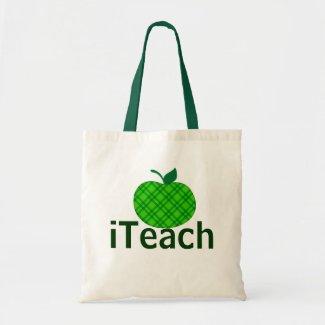 Die Taschen-Tasche grünen Apple iTeach Lehrers Budget Stoffbeutel