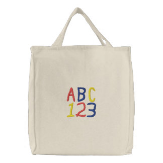 Die Taschen-Tasche Kinder ABCs 123 Bestickte Tragetasche