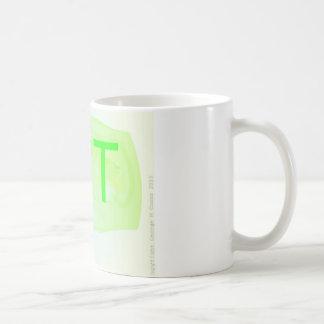 Die Tasse des Buchstabe-T Kaffeetasse