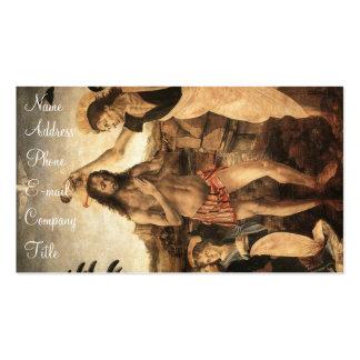 """""""Die Taufe von Christ Visitenkartenvorlage"""