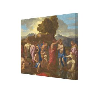 Die Taufe von Christus, 1641-42 Leinwanddruck
