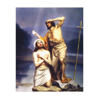 Die Taufe von Christus Gespannter Galerie Druck