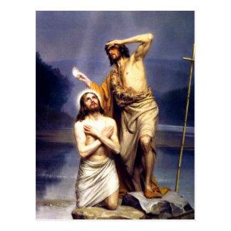 Die Taufe von Christus Postkarte