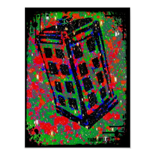 Die Telefonzelle-Telefonzelle durch Kara Willis Plakatdrucke