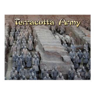 Die Terrakotta-Armee des ersten Kaisers der China Postkarte