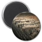 Die Terrakotta-Armee Runder Magnet 5,7 Cm