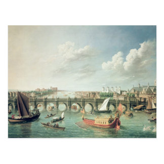 Die Themse unter Westminster-Brücke Postkarte