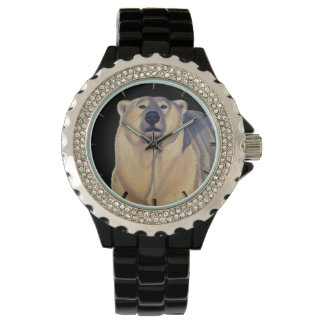 Die Tier-Bärn-Armbanduhr des Eisbär-Uhr-Kindes Uhren