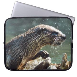 Die Tier-Foto Fluss-Otter Tier-Liebhaber Laptop Sleeve