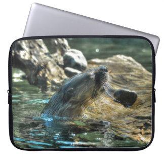 Die Tier-Foto Fluss-Otter Tier-Liebhaber Laptopschutzhülle