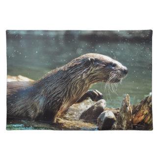 Die Tier-Foto Fluss-Otter Tier-Liebhaber Tischset