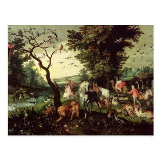 Die Tiere, die Noahs Arche kommen Postkarte