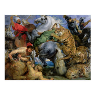 Die Tiger-Jagd, c.1616 Postkarte