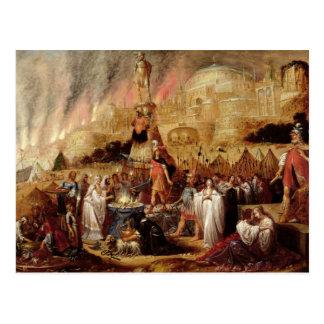 Die Tochter von Jephthah, 1643 Postkarte