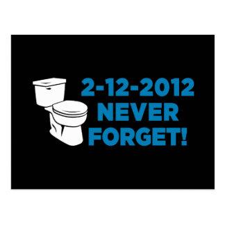 Die Toilette 2012, die vergessen eben ist nie Postkarten