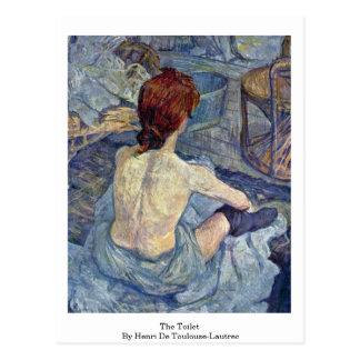 Die Toilette, durch Henri-De Toulouse-Lautrec Postkarte