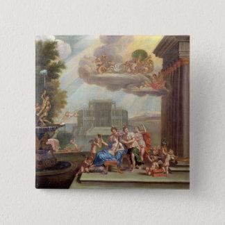 Die Toilette von Venus, 18. Jahrhundert Quadratischer Button 5,1 Cm