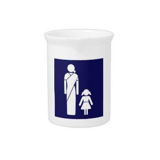 Die Toiletten-Zeichen der Damen, Indien Krug