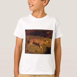 Die tote Damhirschkuh durch Gustave Courbet T-Shirt